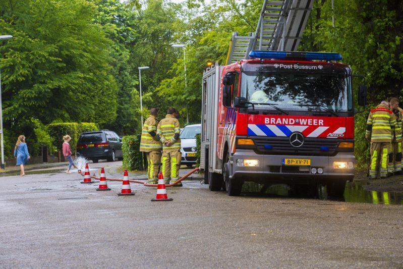 Ook in Bussum kwam de brandweer in actie